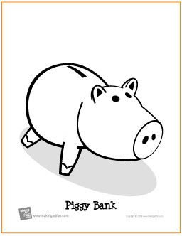Piggy Bank Free Printable Coloring Page Free Printable Coloring Pages Coloring Pages Free Coloring Pages