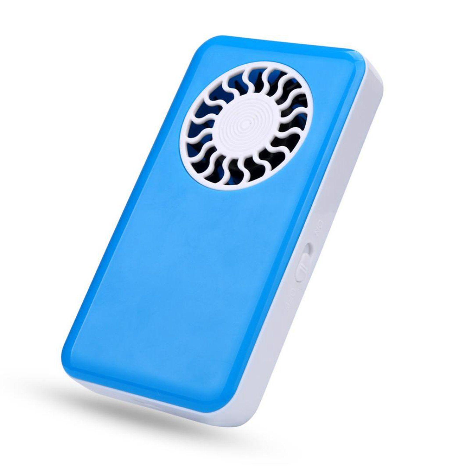 zeshlla mini portable usb handheld fan small air conditioner blue