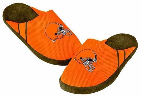 83bfe5f8c64 Cleveland Browns Official NFL Jersey Slippers