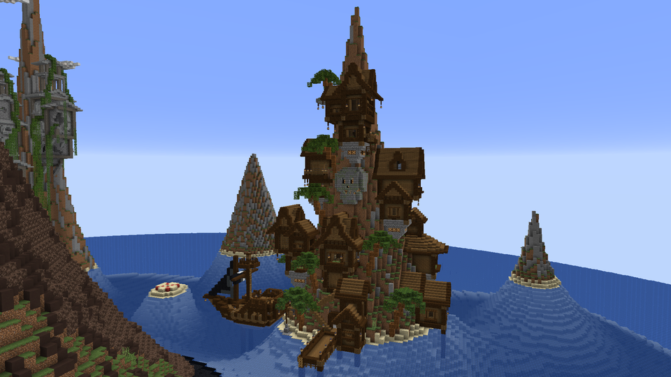 Pirate Island For A Hunger Games Map I M Making Minecraft Pirate Island Minecraft Building Guide Minecraft