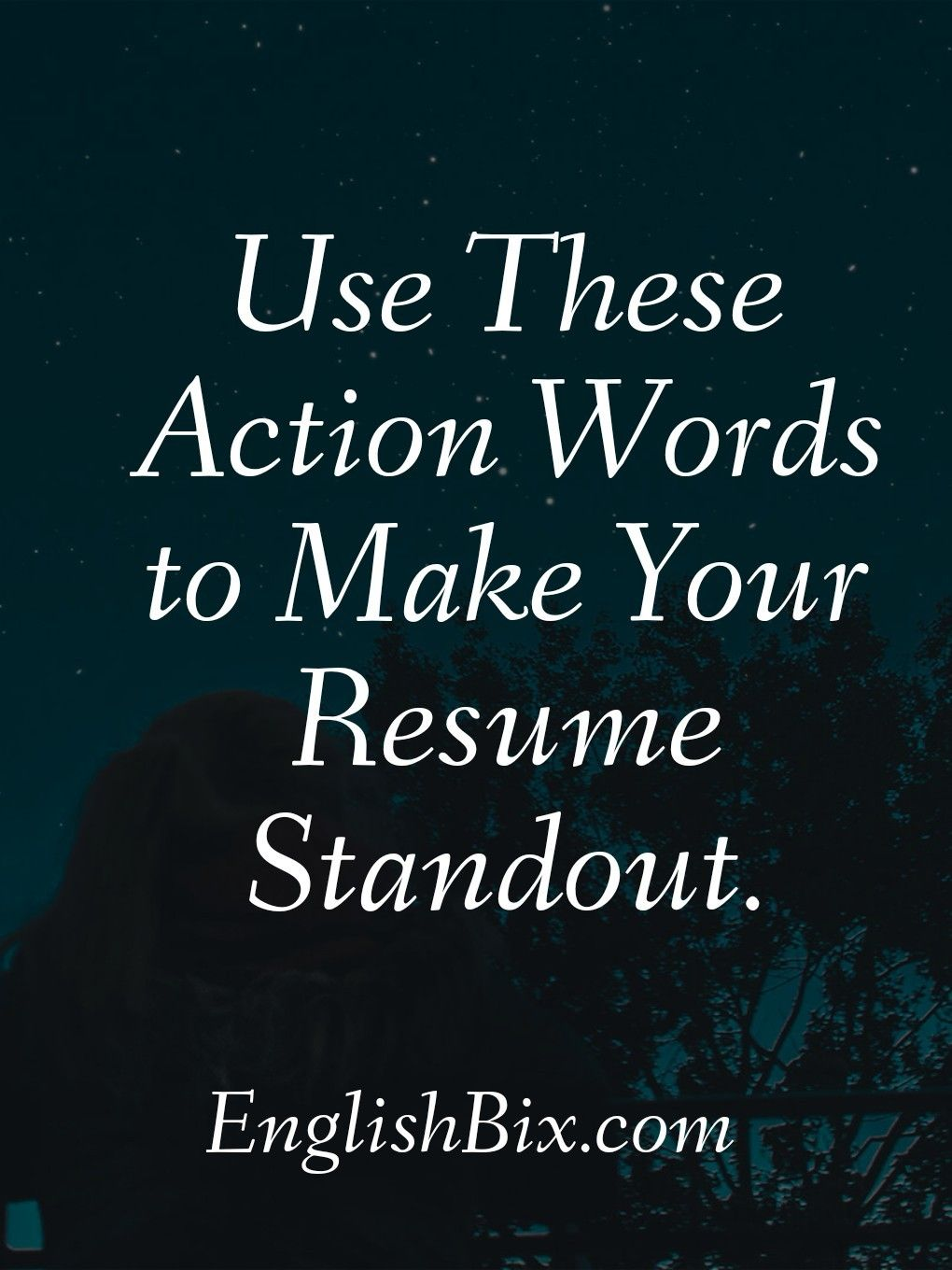 List of Action Verbs Words to Perfect Your Resume