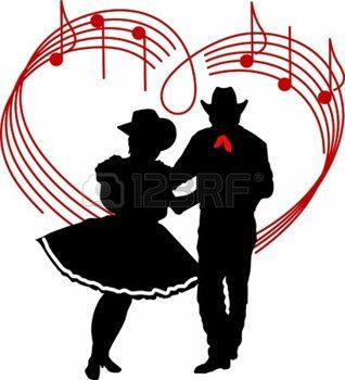 square dancing: The perfect country silhouette of square ...