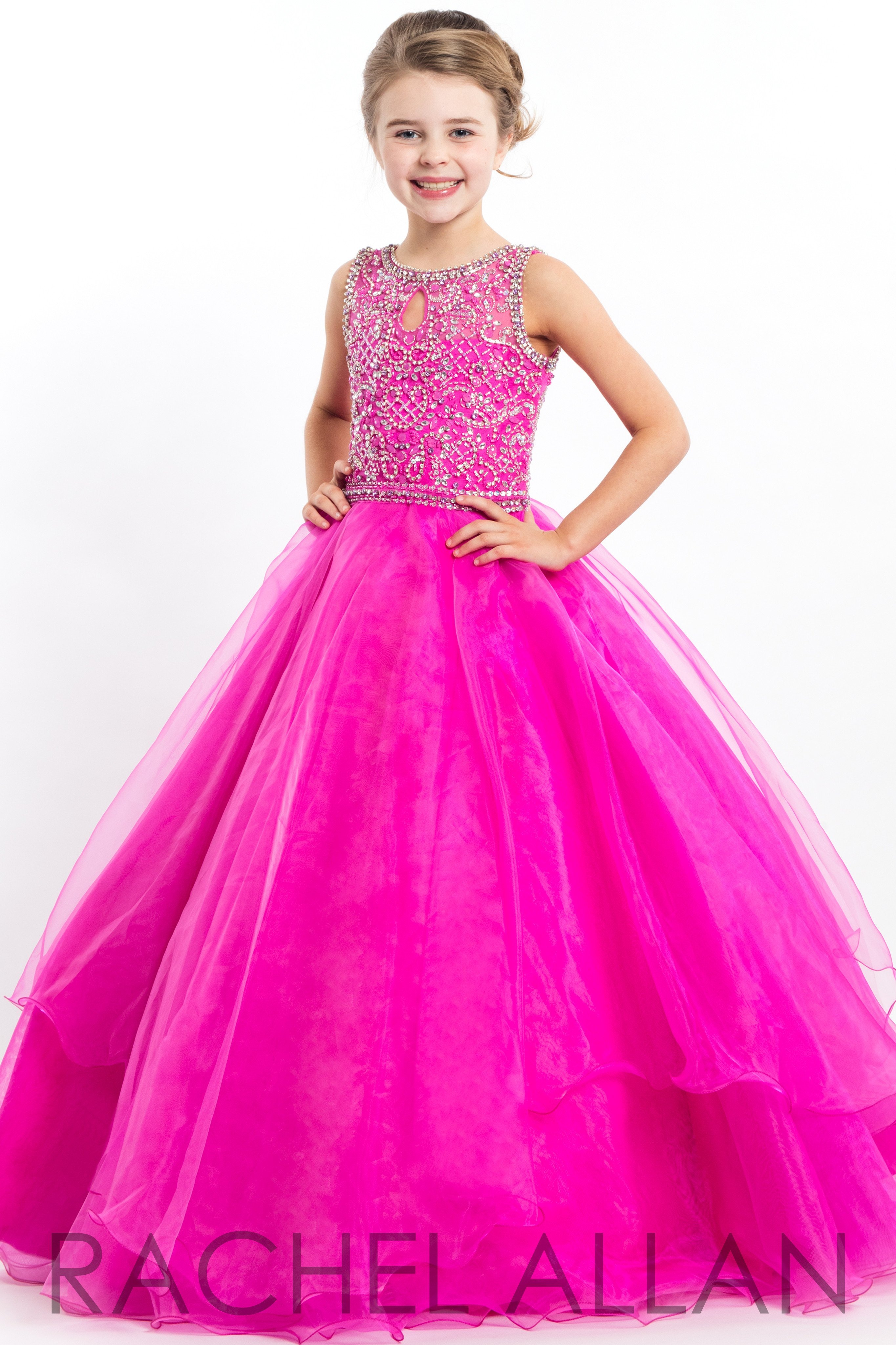 e444f267c Perfect Angels 1687 Magenta Girl Pageant Dress