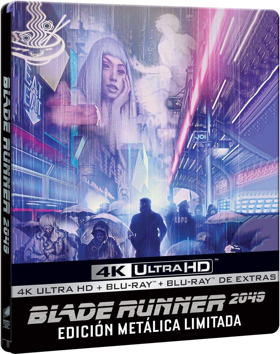 Blade Runner 2049 4k Uhd Bd Bd Extras Edici N Especial Metal Limitada Blu Ray Uhd Bd Extras Blade Blade Runner Chica Cyberpunk Arte Cyberpunk