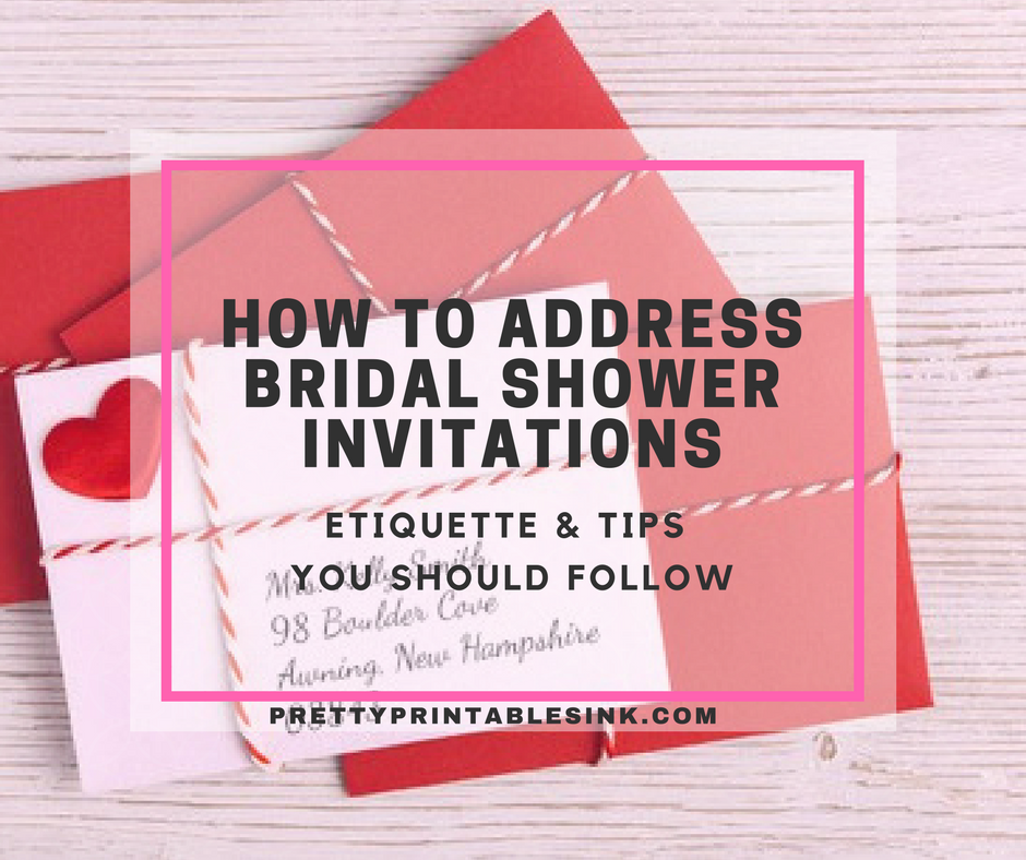 One of the most common bridal shower etiquette questions we get is one of the most common bridal shower etiquette questions we get is about how to address bridal shower invitations weve compiled some useful tips to help filmwisefo
