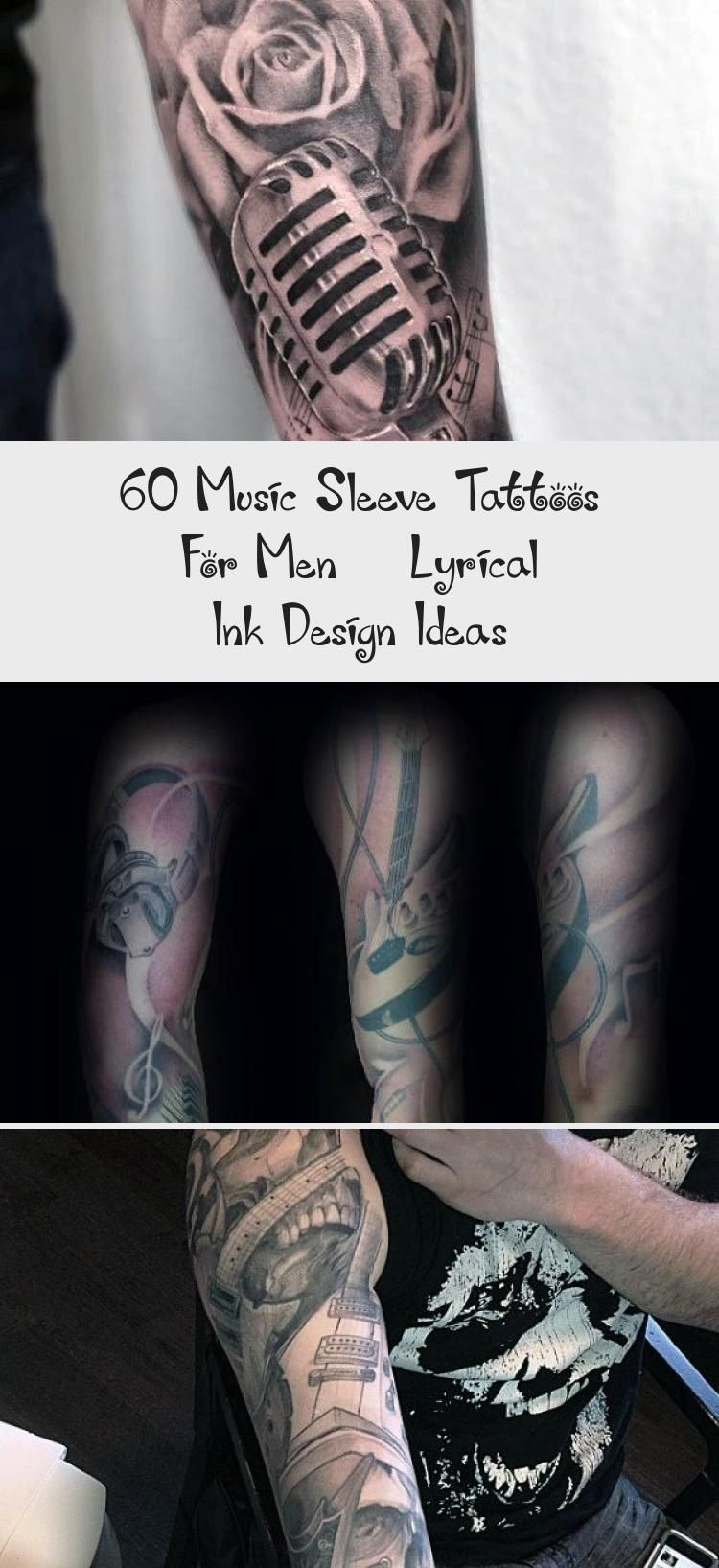 Photo of 60 Music Sleeve Tattoos For Men – Lyrical Ink Design Ideas – Tattoo Blog