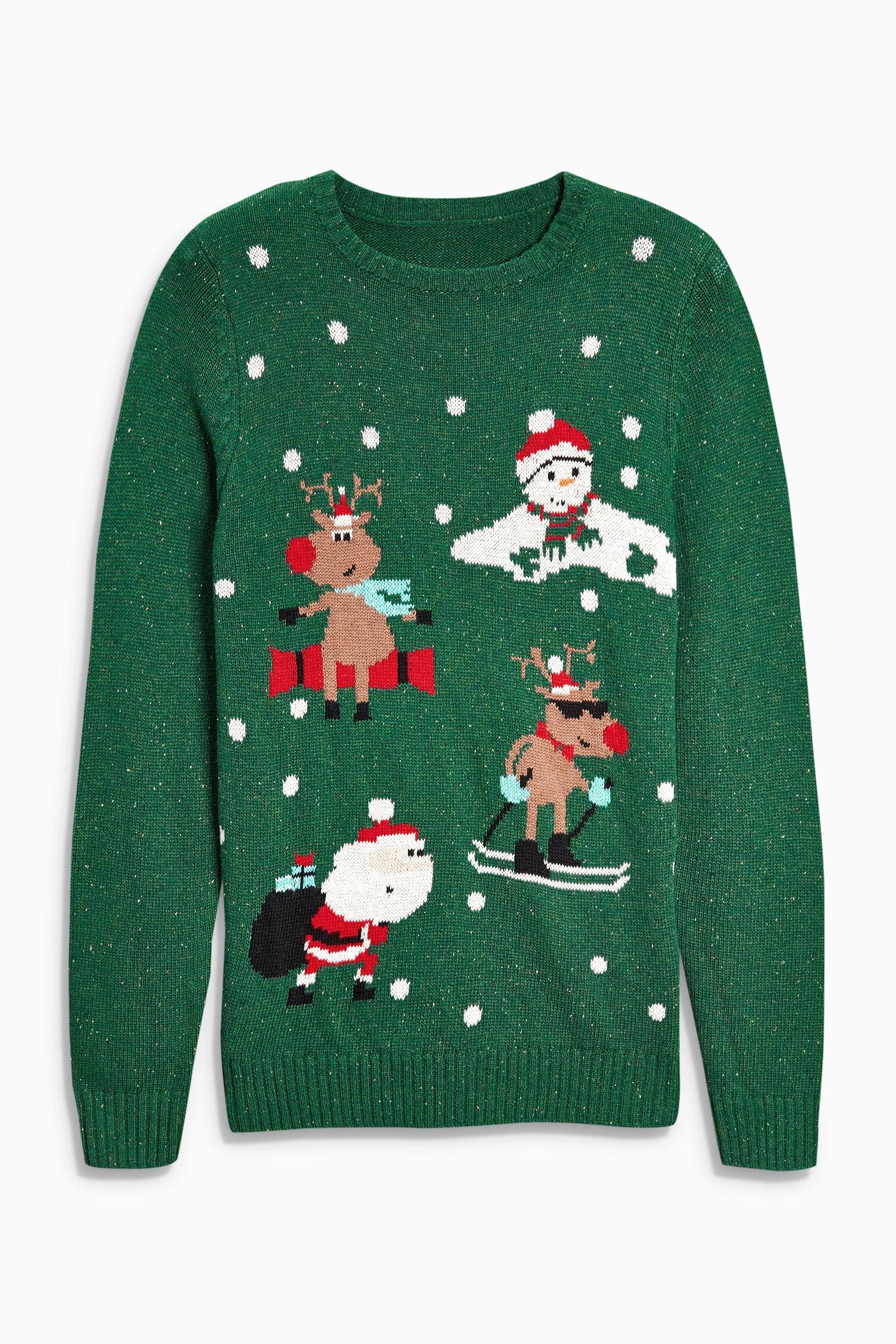 Buy Green Christmas Characters Jumper (3-16yrs) from the Next UK online shop