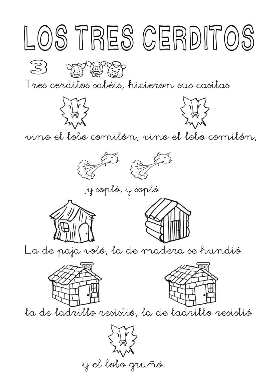 Actividades los tres cerditos by LA PROFE via slideshare