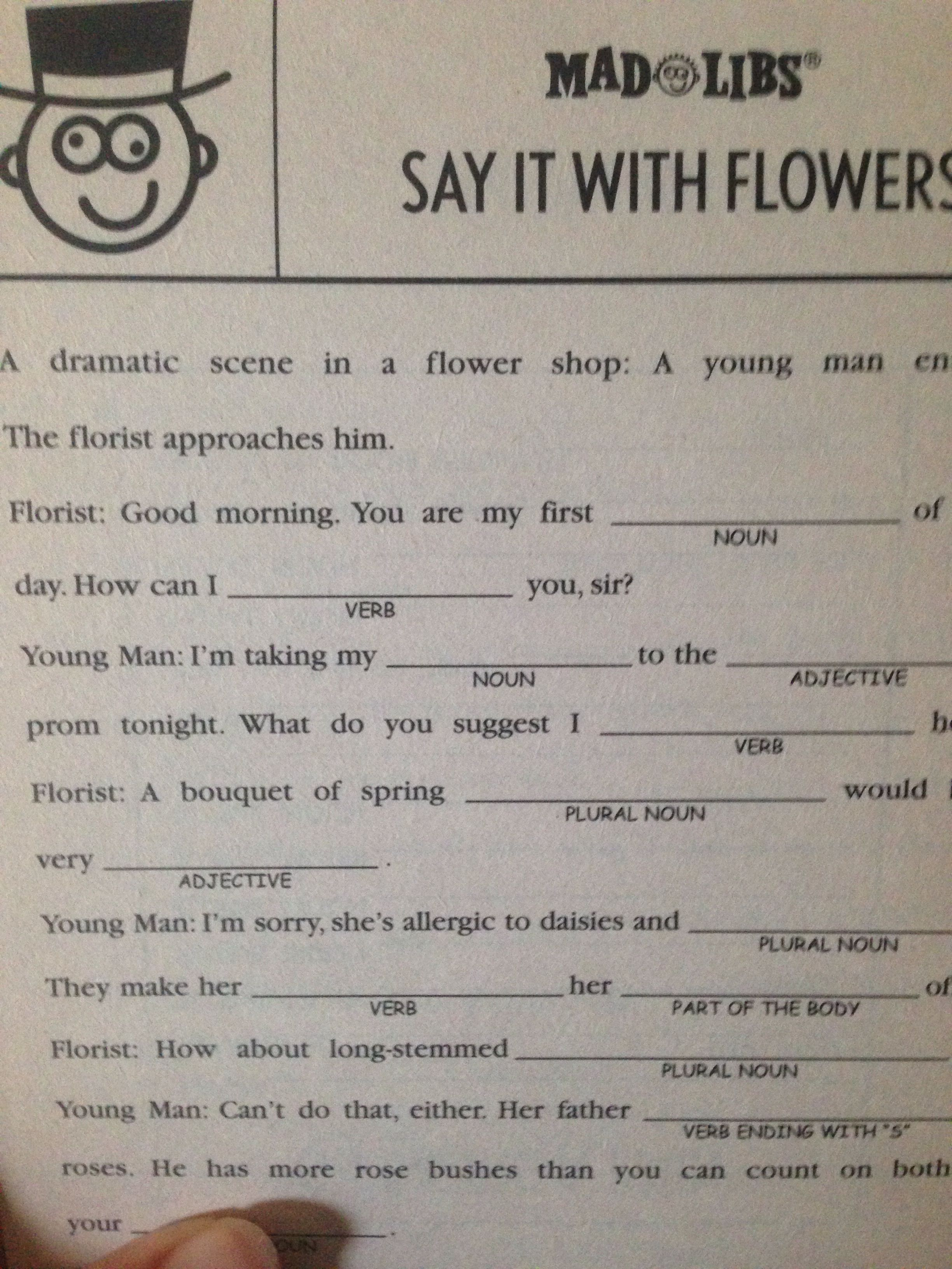 More Mad Libs