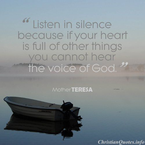 Mother Theresa Quote - Voice of God |ChristianQuotes.info