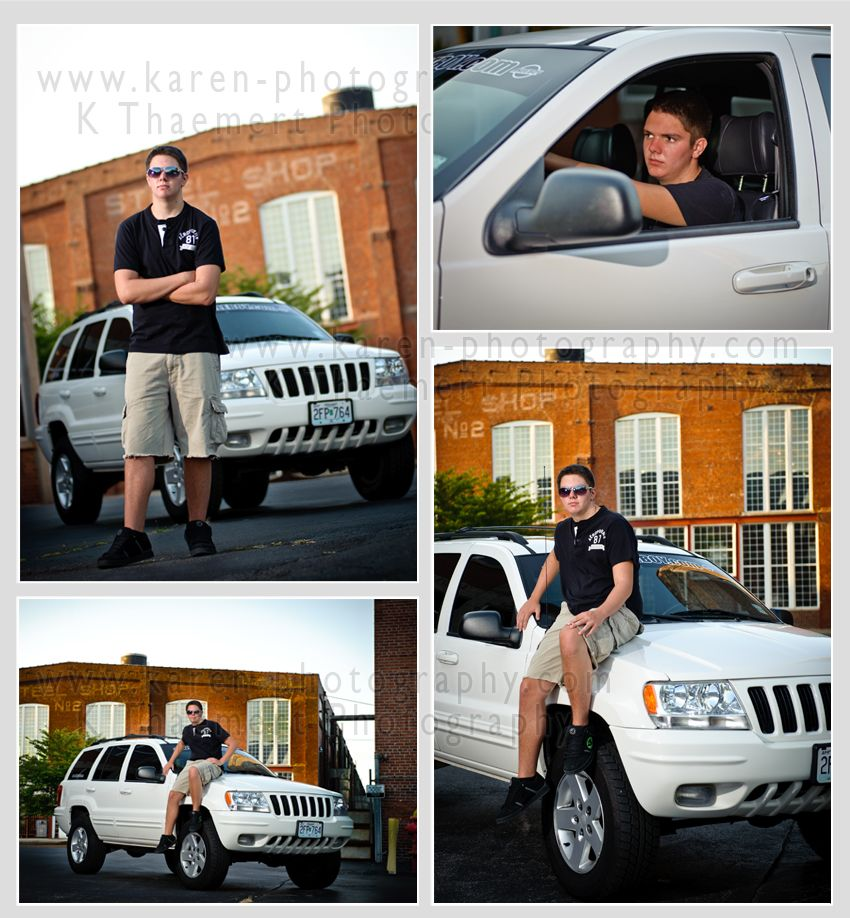 Senior Picture Poses For Guys | love it when seniors bring props, whether it's a car, jeep, truck ...