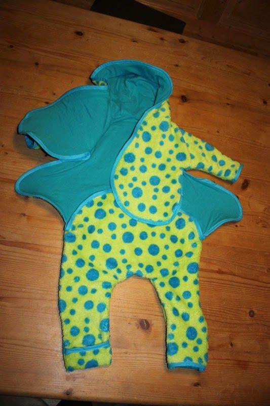kostenloses Schnittmuster und Nähanleitung für Baby Overall ...
