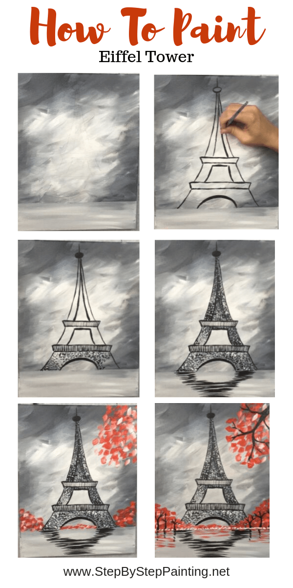 How To Paint An Eiffel Tower #eiffel How To Paint An Eiffel Tower - Step By Step Painting #eiffeltower
