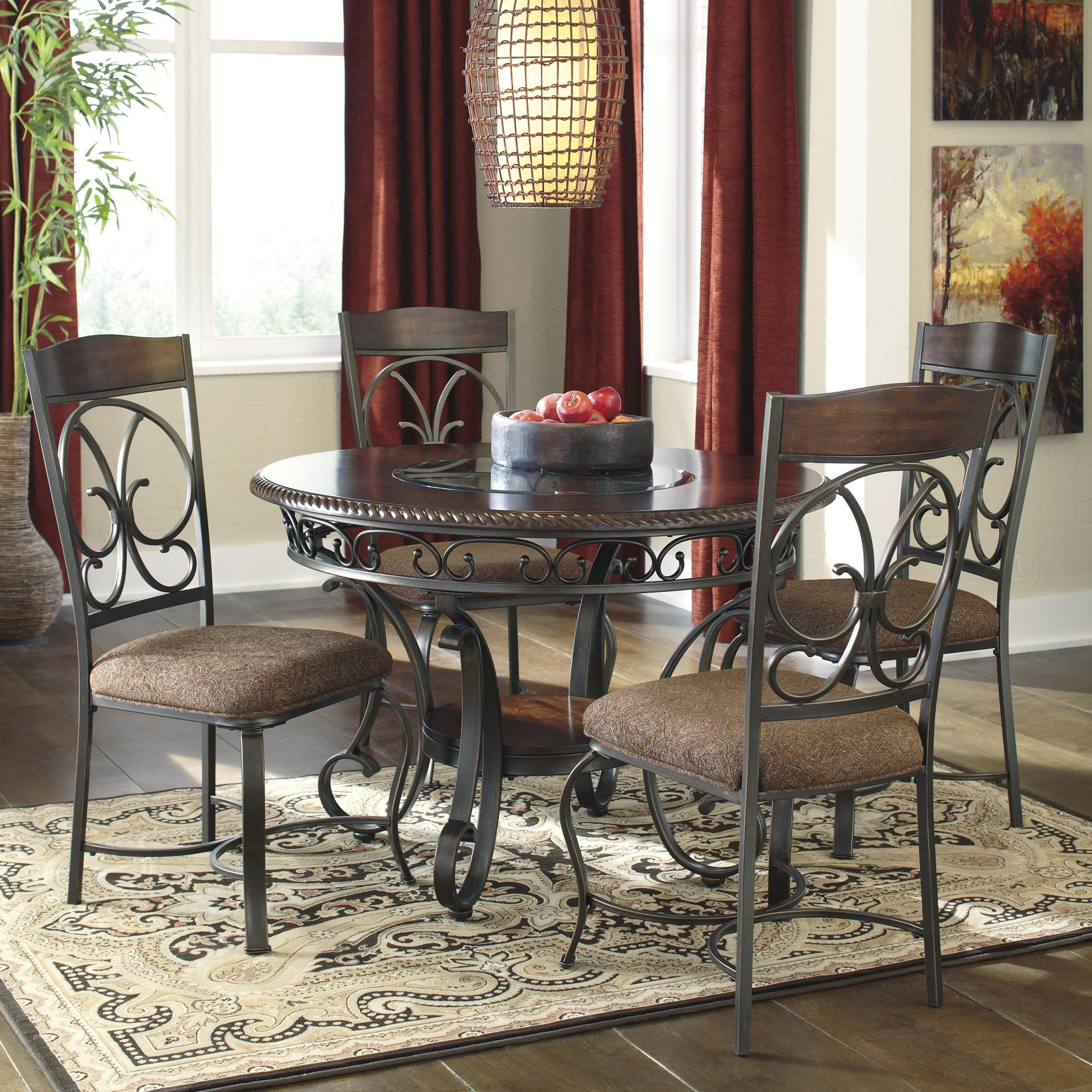 Royal Kitchen Design: Glambrey Round Dining Table And Chair Set By Signature