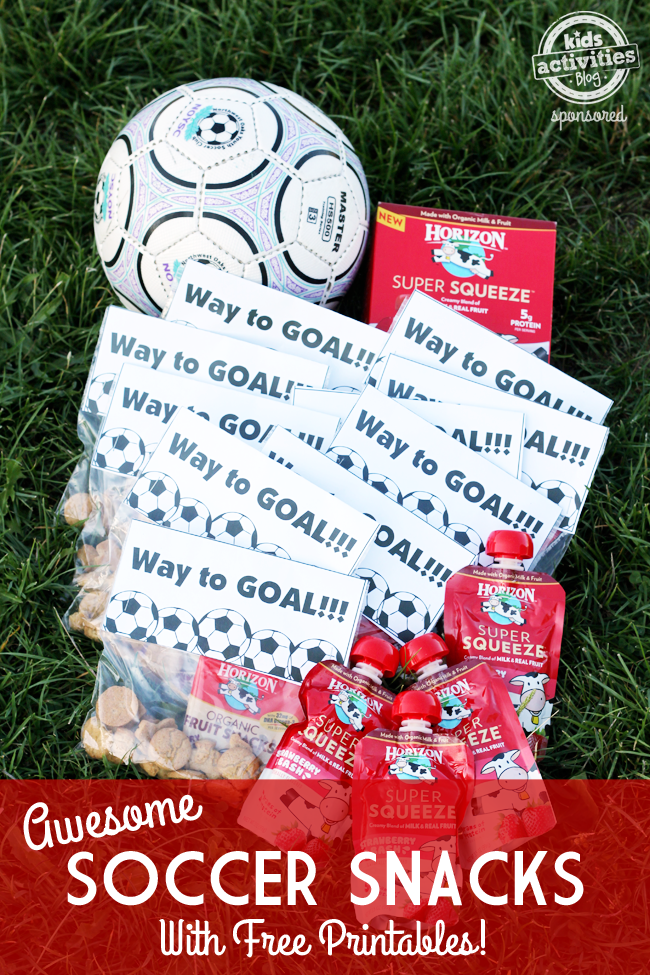 awesome soccer snacks with free printable snacks pinterest