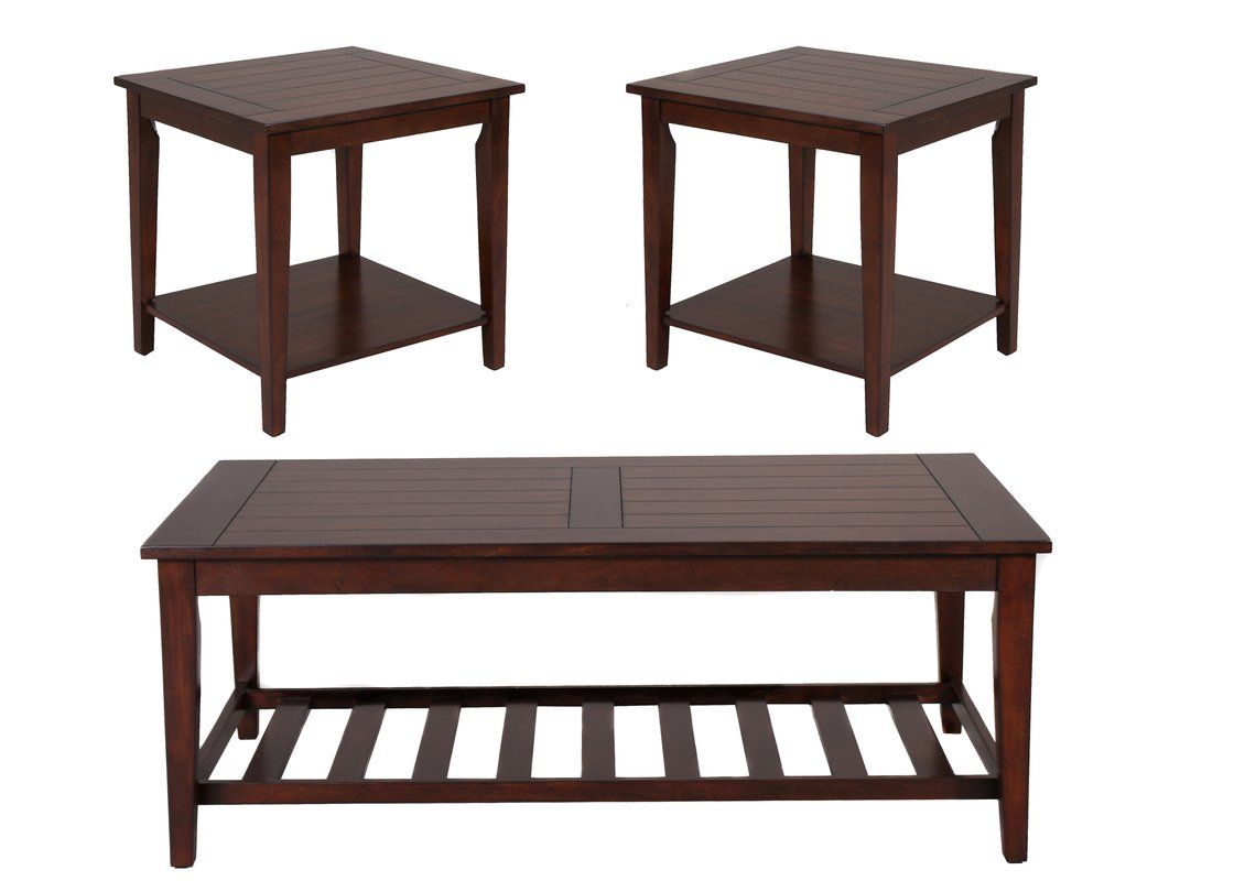 missoula occasional 3 piece coffee table set  3 piece