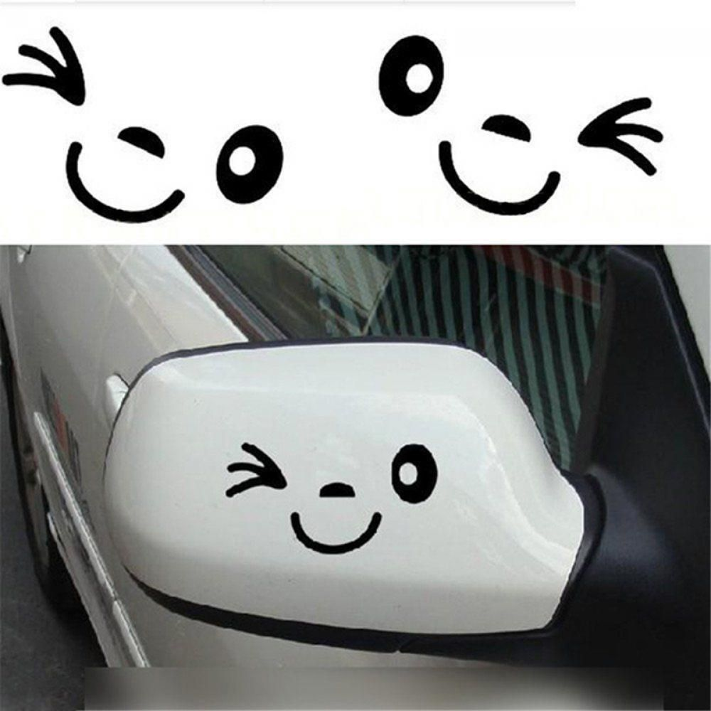 1 lovely decoration cute car decal vinyl mirror smile face rearview sticker ebay home garden