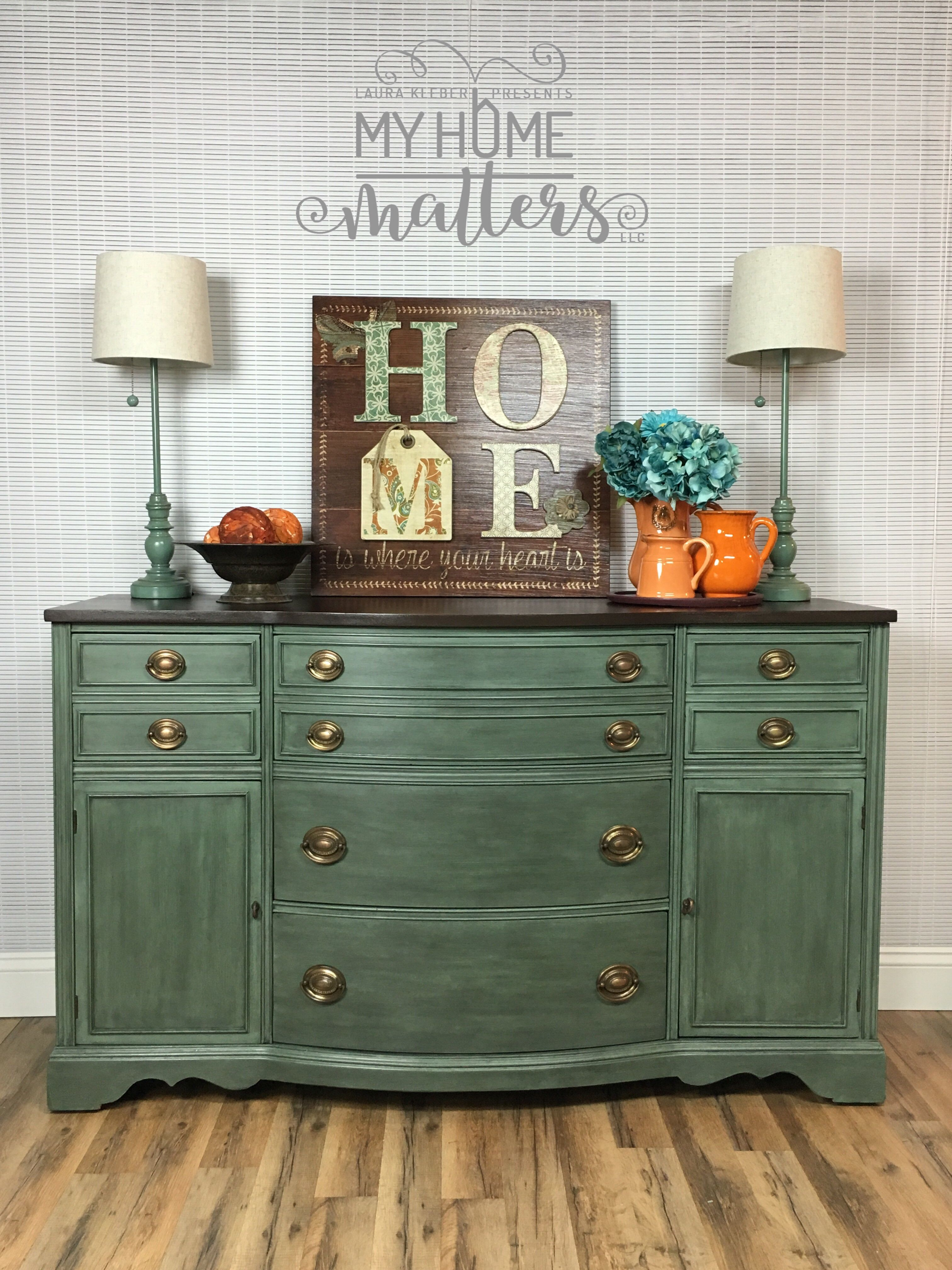 Hand Painted Furniture Buffet Painted And Refinished In