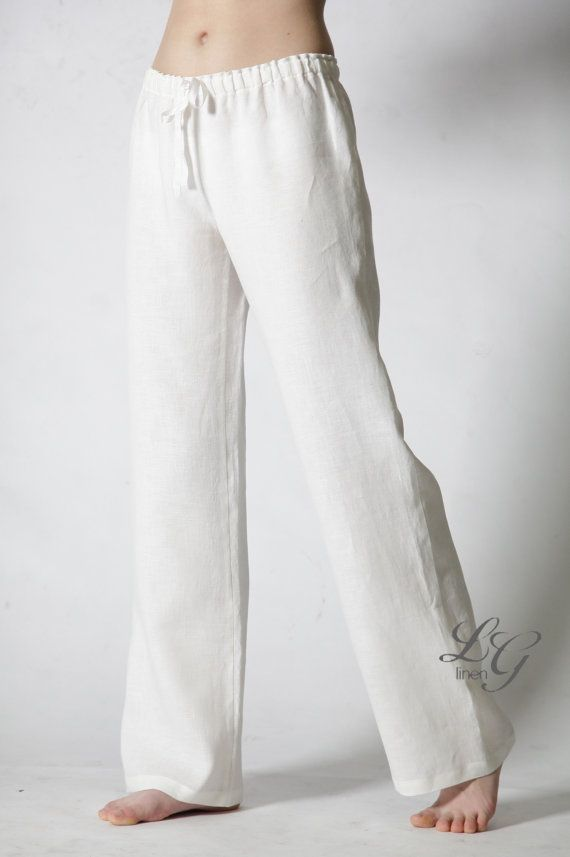 linen white pajama trouser just classical linen pajama. Black Bedroom Furniture Sets. Home Design Ideas