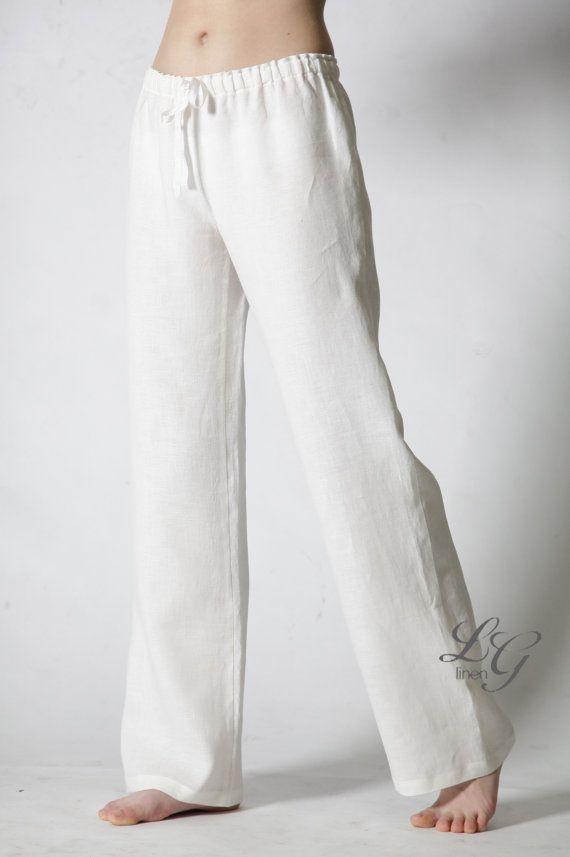 pantalon pyjama lin juste classique pour femme vitashyreth pinterest pyjama pantalons et. Black Bedroom Furniture Sets. Home Design Ideas