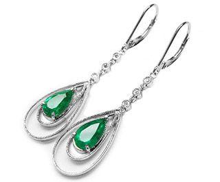 Colombian emerald earrings online