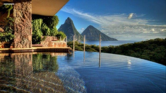 Luxus pool  luxus pool vorschlag für tollen luxus pool | Luxuriöse Designs von ...