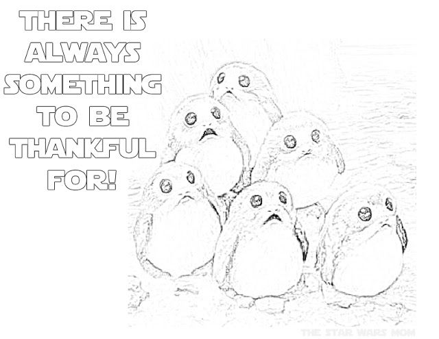 Star Wars Porgs Coloring Page Thanksgiving Coloring Pages