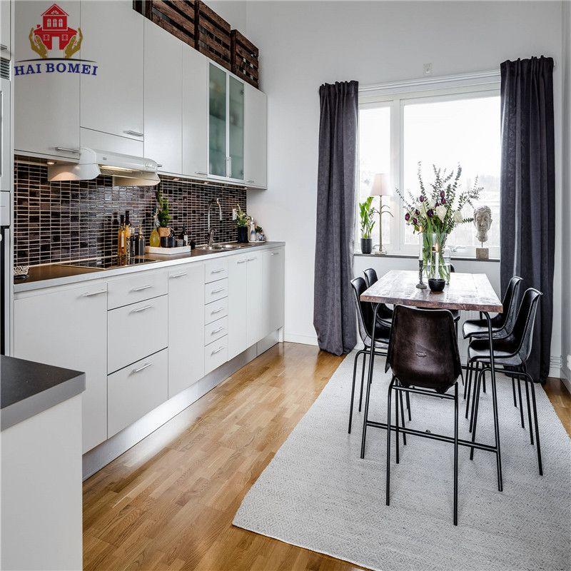 American Style Luxury Kitchen Acylic MDF Panel Cupboard WIth Acrylic Sliding Cabinet Doors