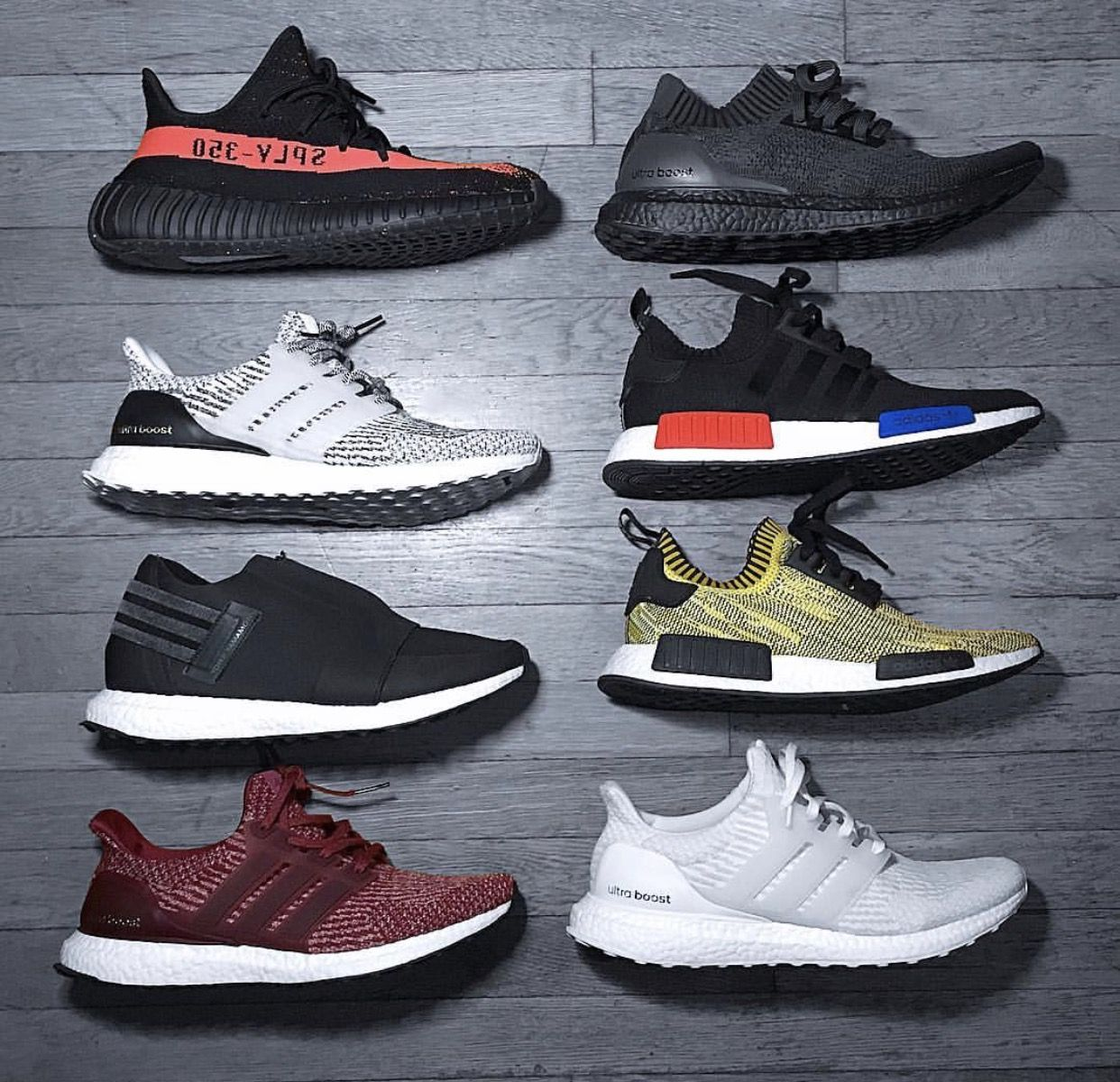 44d50cc75 Adidas Sneaker rotation. Yeezy 350 V2  Ultra Boost 3.0  NMD-R1 Pk ...