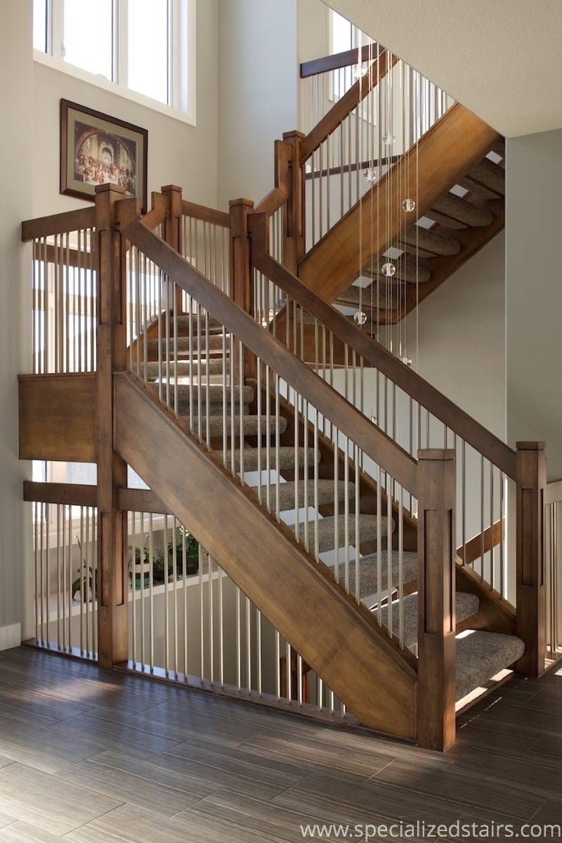 Best Self Supported Maple Stairs Indoor Stair Railing Stair Railing 400 x 300
