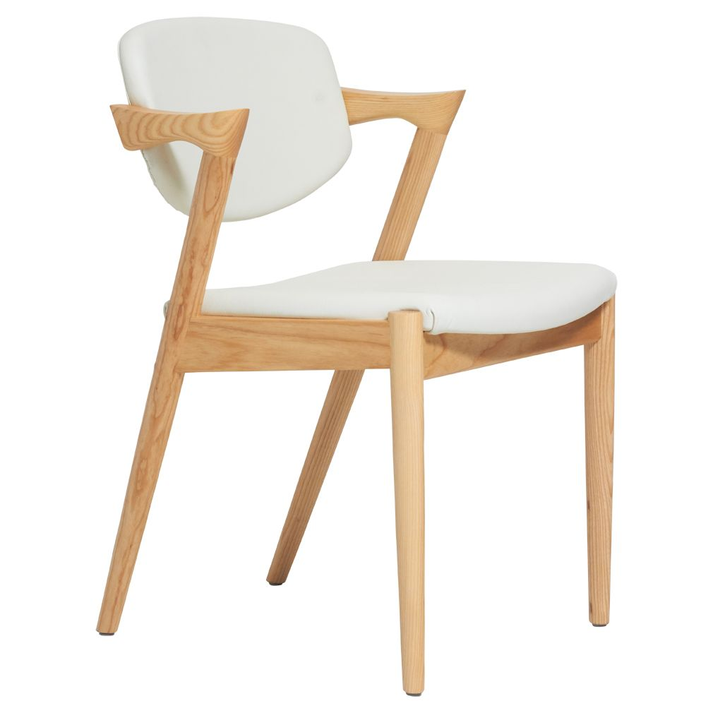 Kai 42 Dining Chair In Leather Replica Oak White Matt Blatt Dining Chairs Traditional Chairs Chair