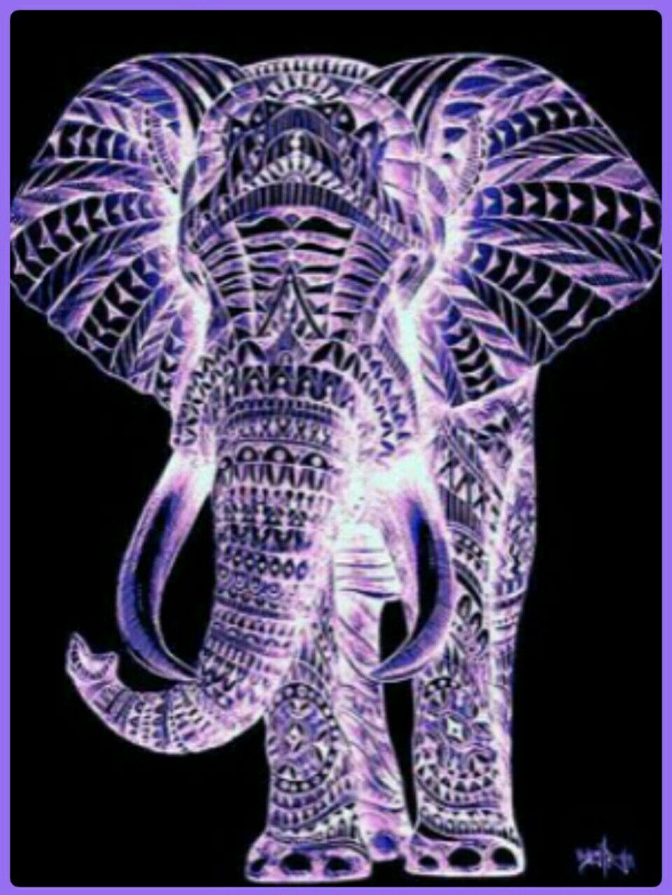 Elephant Crystal Sculpture Beautiful Purple Elephant All Things Purple Purple Color