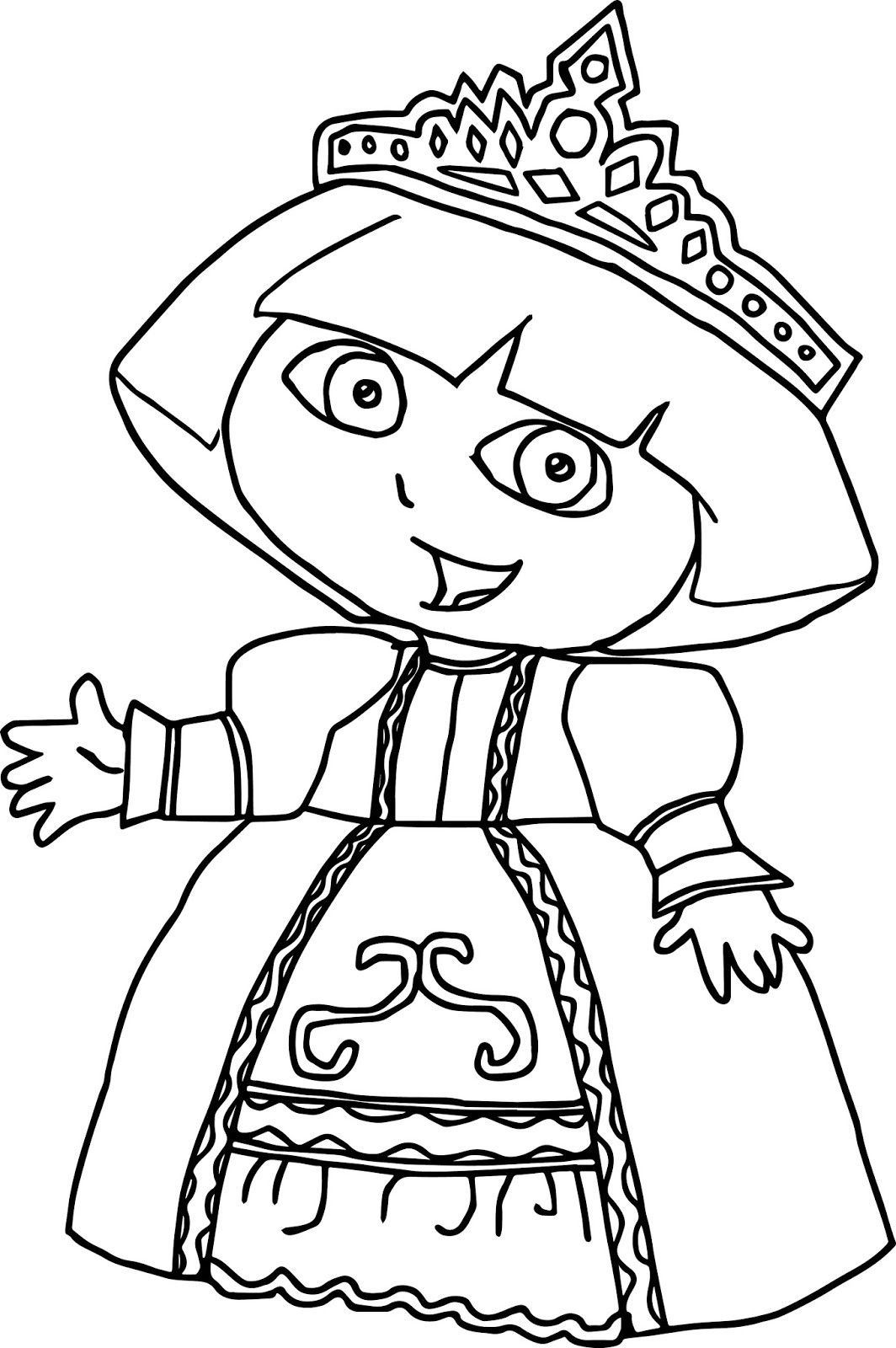 Dora Princess Coloring Page Youngandtae Com Princess Coloring Pages Dora Coloring Mermaid Coloring Pages
