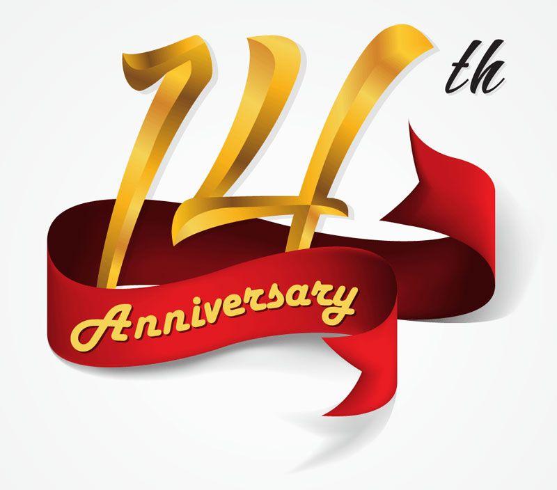 14th Anniversary Clip Art 14th Wedding Anniversary 14th Anniversary Gifts Happy 14th Anniversary