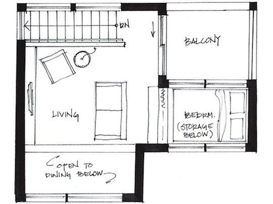 500 Square Foot Small House Tiny House Plans Small House Plans Floor Plans