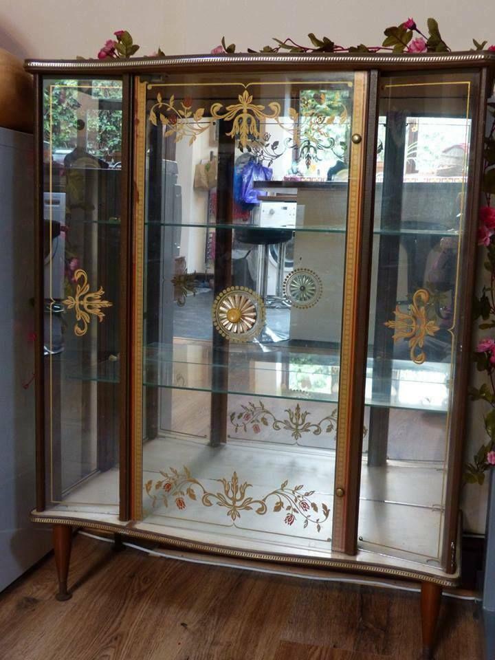 Art deco 192030s china mirrored glass display