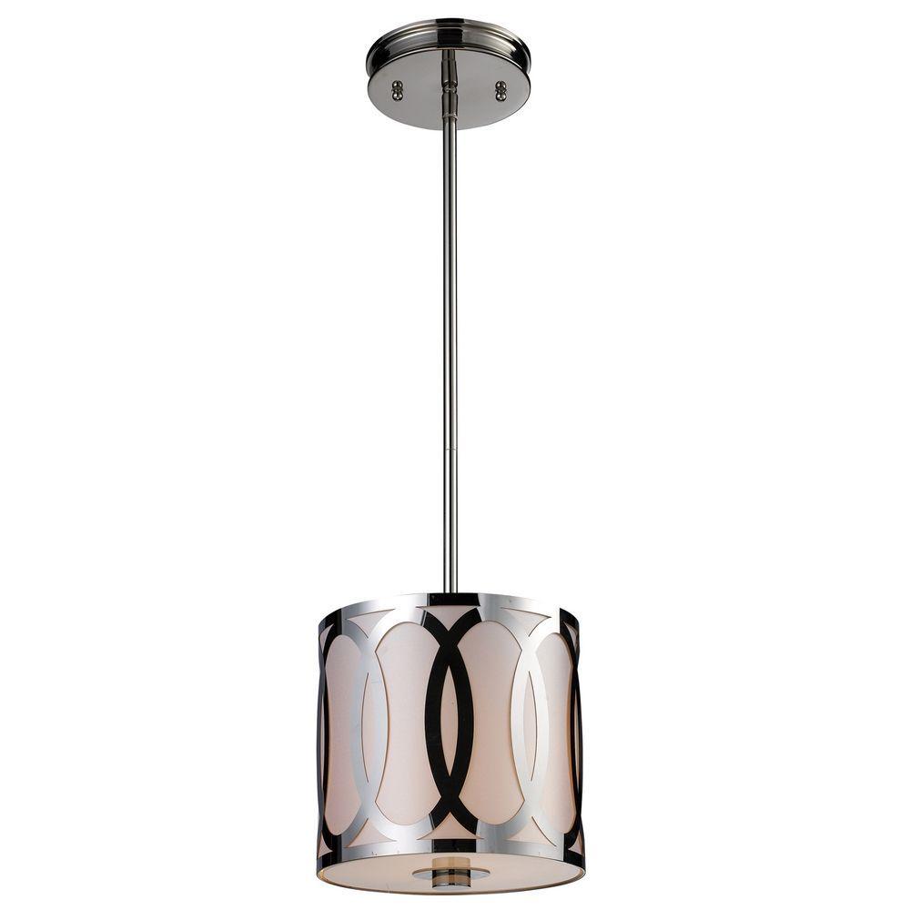 Elk Lighting Modern Mini-Pendant Light with Silver Shade 10172/1