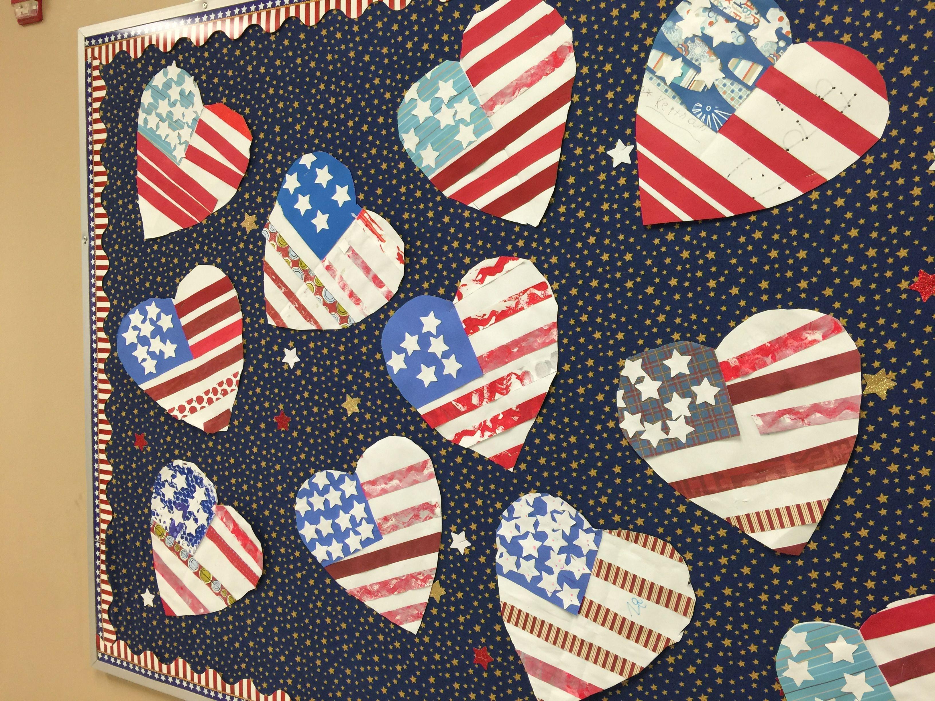 Patriotic Craft Bulletin Board