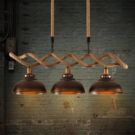 439.99$  Watch now - http://alirh8.worldwells.pw/go.php?t=32509210113 - Edison Loft Style Hemp Rope Droplight Industrial Vintage Pendant Light Fixtures For Dining Room Hanging Lamp Lampara 439.99$