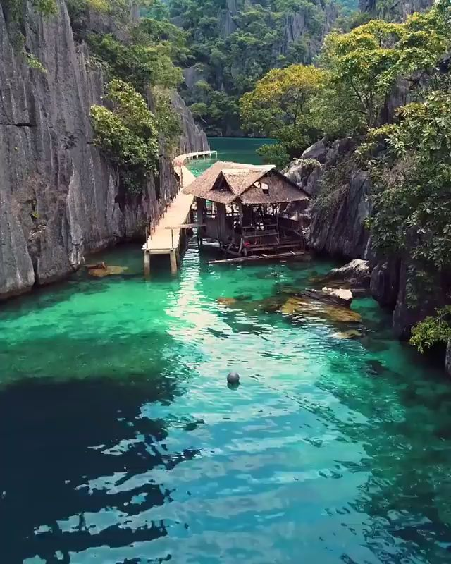 With a population of 51,803 people, Coron island in the Philippines is considered one of the most beautiful island in the world. And it looks like paradise. On a historical note, Japan used the island as a refueling base during World War II. #travel #vacation #video