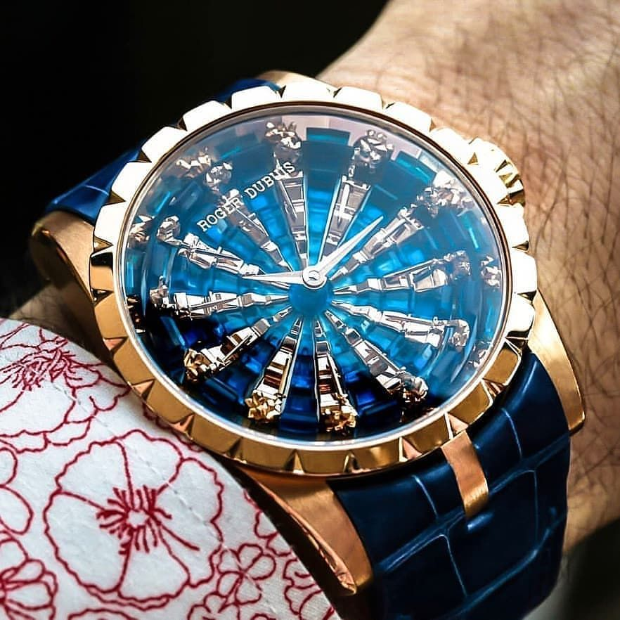Roger Dubuis Excalibur Knights of the Round Table III Price Upon Request #thetimepiecegentleman ~~~~~~~~~~~~~~~~~~ The new models blue part… #luxurywatches