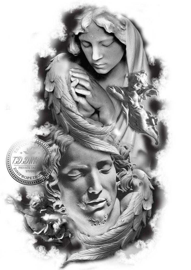 Resultado de imagen para querubines tattoo diseños ...