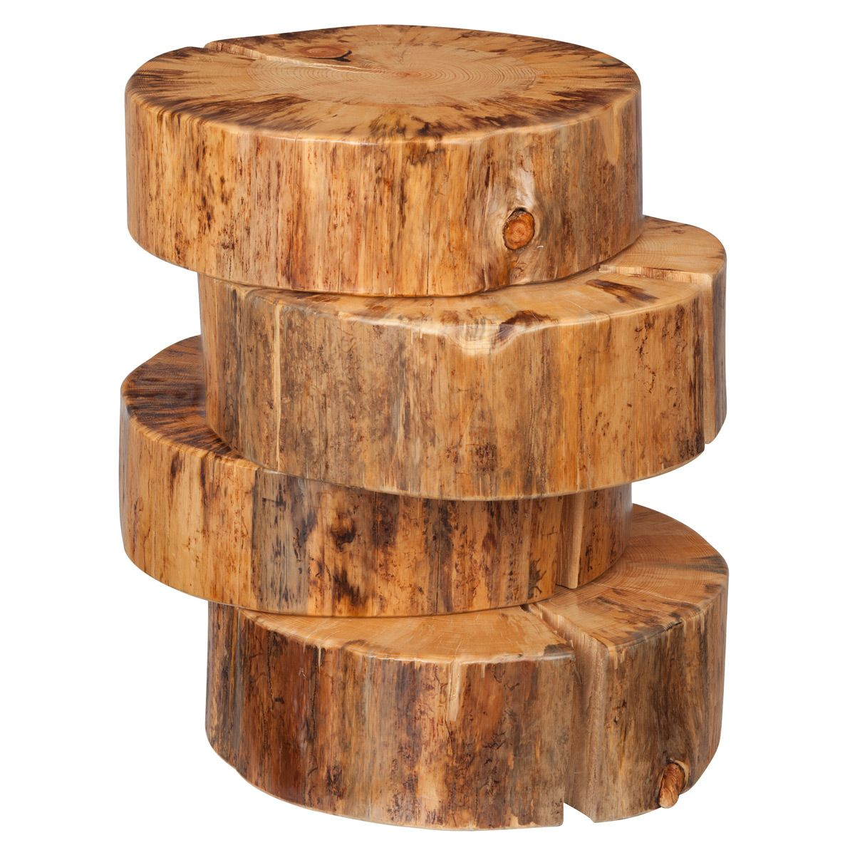 Aged pine step end table with images rustic end tables
