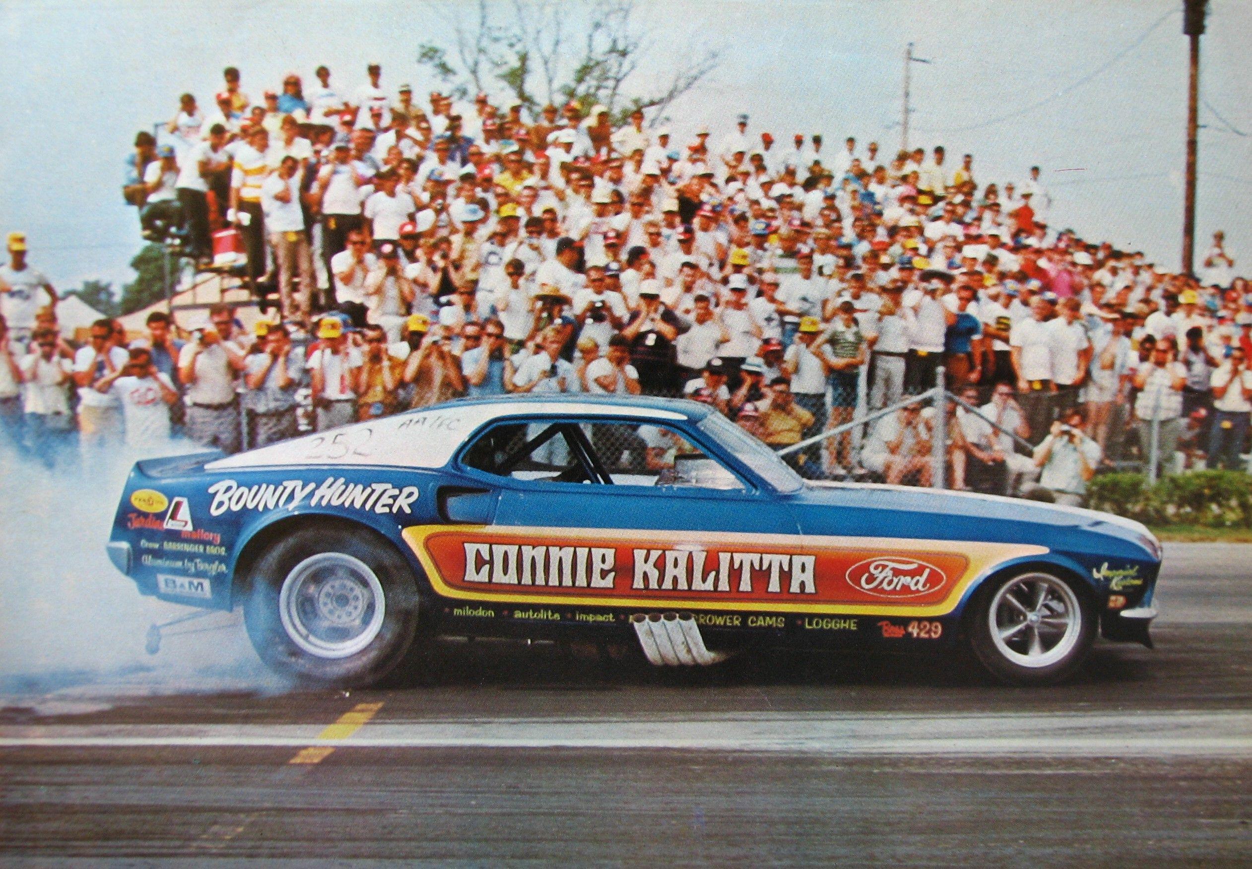 Barry Setzer vs Jungle Jim. circa.1974 Drag Racing Art Print