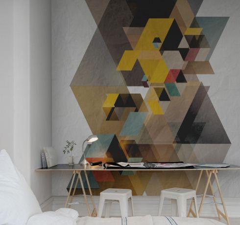 Die besten 25 geometrische wand ideen auf pinterest for Geometrische deko