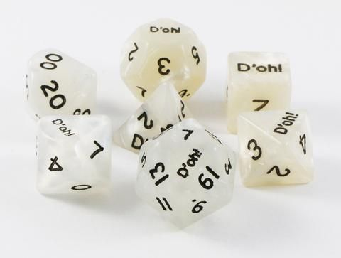 Bad dice rolls will never be the same with a set of D'oh! dice. Go...