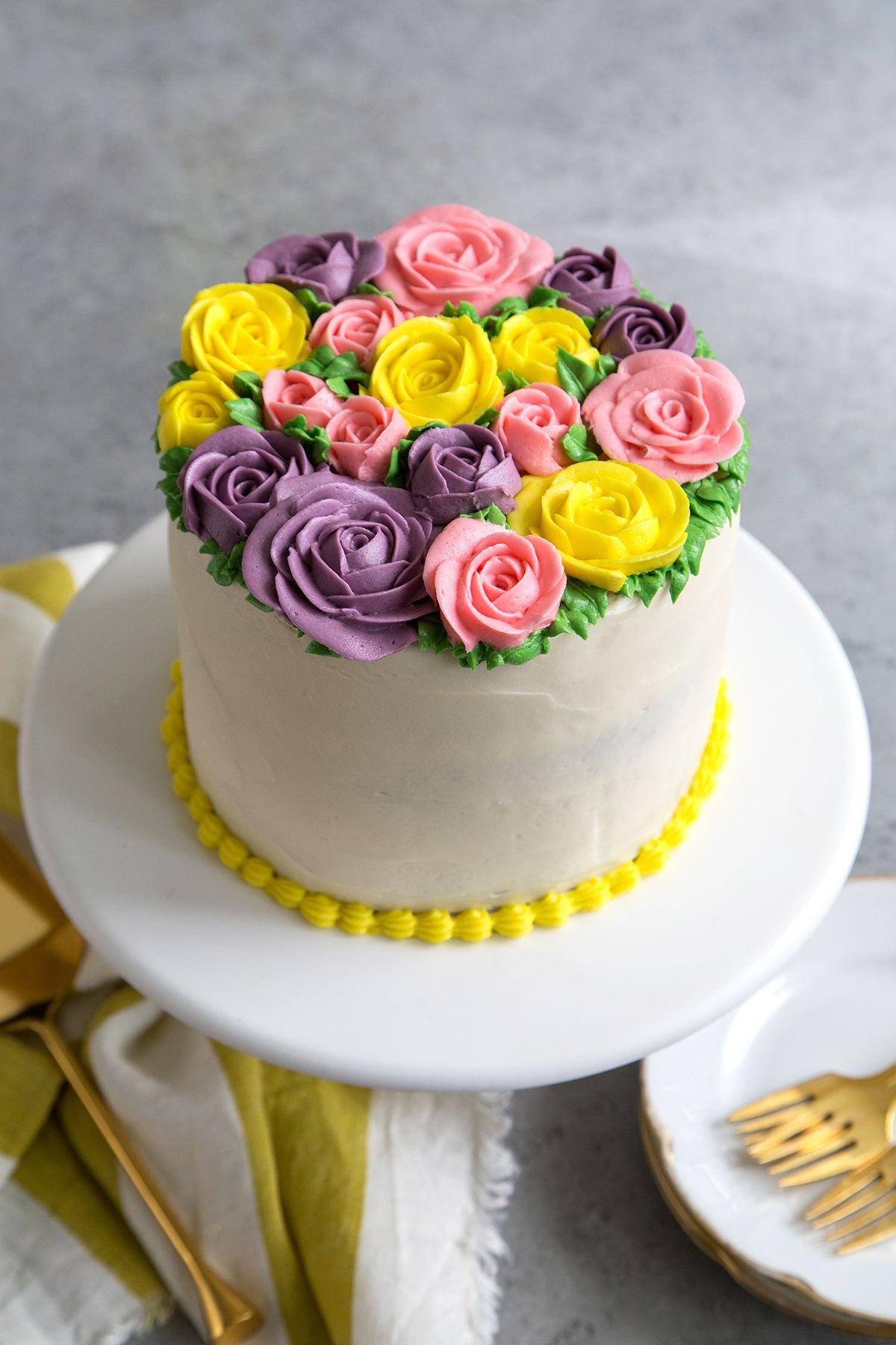 Buttercream Flowers Cake Recipe Buttercream flower
