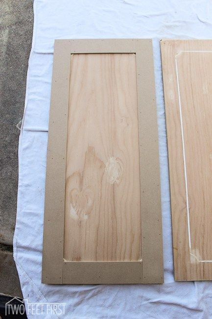 TwoFeetFirst  DIY Shaker Style Cabinet Door for cheap