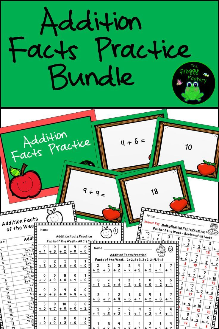 Addition Facts Worksheets and PowerPoints Bundle | Addition facts ...