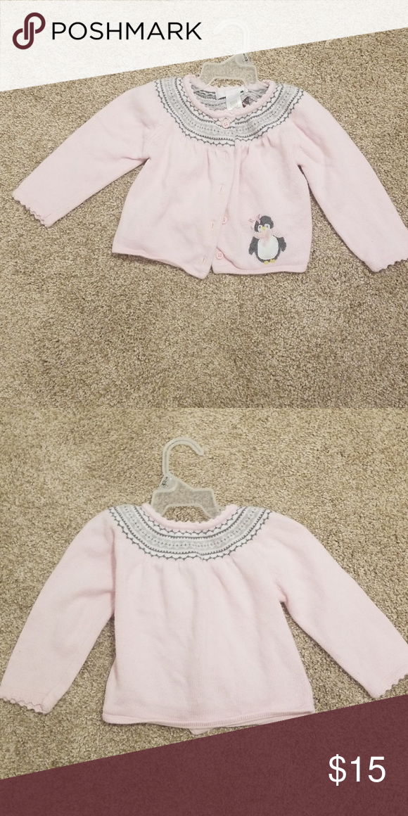 8750235e4351f7 Janie and Jack girl sweater fair condition Janie and Jack Jackets & Coats